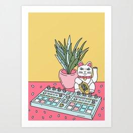 Sad cat pad Art Print