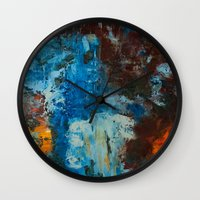 metal Wall Clocks featuring Metal by yellowbunnies