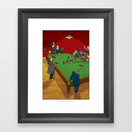 "W. Heath Robinson's ""Indoor Football"" Framed Art Print"