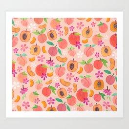 Apricot, Nectarine, & Peaches Art Print