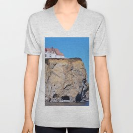 Living at the End of the World Unisex V-Neck