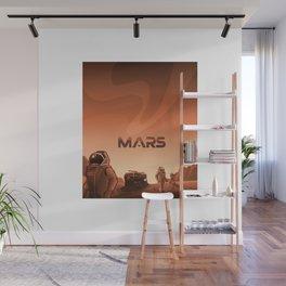 Mars Illustration Wall Mural