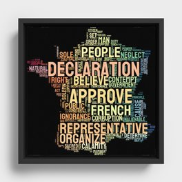 Word Cloud 1 - The Declaration of the Rights of Man and of the Citizen Framed Canvas