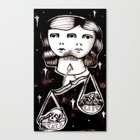 libra Canvas Prints featuring libra by Kaitlyn Wright