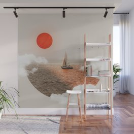 Golden Hour - Digital Collage Wall Mural