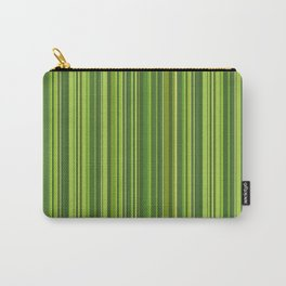 Many multicolored strips in the green sample Carry-All Pouch