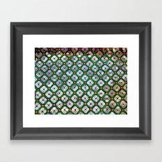 Geometric abstract tiles Framed Art Print