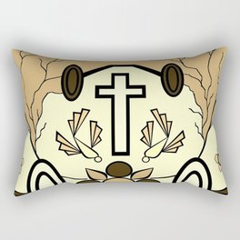 Brown Religion Illustration Rectangular Pillow