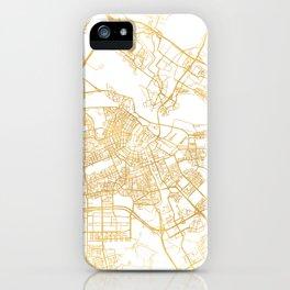 AMSTERDAM NETHERLANDS CITY STREET MAP ART iPhone Case
