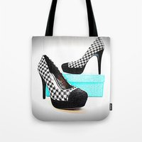 shoe Tote Bags featuring Shoe Lust by 2sweet4words Designs
