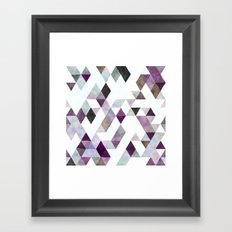 Purple Geometric Framed Art Print