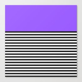 STRIPE COLORBLOCK {PURPLE} Canvas Print