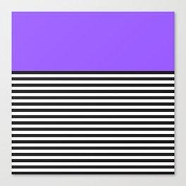 STRIPE COLORBLOCK {PURPLE} Canvas Print