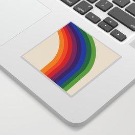 Groovy - rainbow 70s 1970s style retro throwback minimal happy hippie art decor Sticker