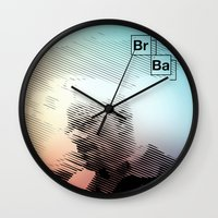 breaking bad Wall Clocks featuring Breaking Bad by Crazy Thoom