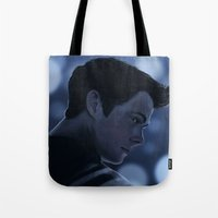 stiles Tote Bags featuring Stiles Stilinski by Inkforwords