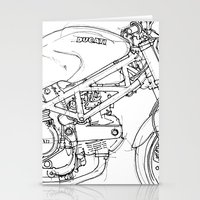 ducati Stationery Cards featuring Ducati Monster 695d 2007 by Larsson Stevensem
