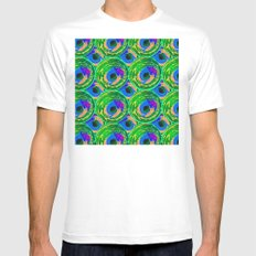Circle Painting Number 10 MEDIUM White Mens Fitted Tee