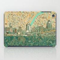 cincinnati iPad Cases featuring cincinnati city skyline by Bekim ART