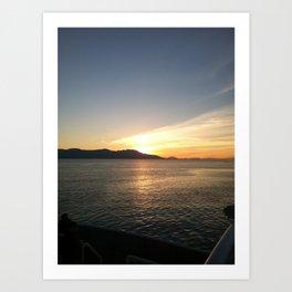 Sunrise over Water Art Print