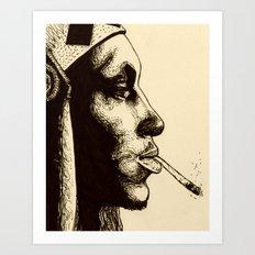 Tricky in Ink Art Print