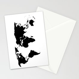 World Outline Stationery Cards