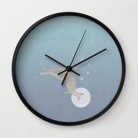 kangaroo Wall Clocks featuring Kangaroo by Julia Brnv