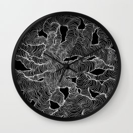 Inverted Organic Wall Clock