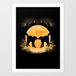 Black Cats Paradise Art Print