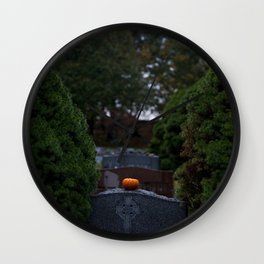 Halloween in the Cemetery Wall Clock
