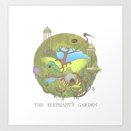 The Elephant's Garden - Version 1 Art Print