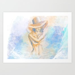 Bathing Art Print