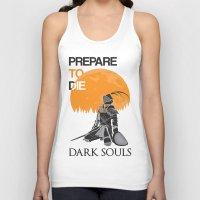 dark souls Tank Tops featuring Dark Souls by billydragon77
