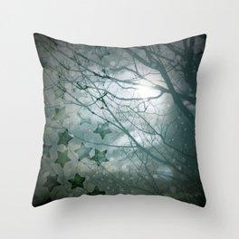 Falling Into Night Throw Pillow