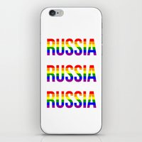 russia iPhone & iPod Skins featuring RUSSIA by Beauty Killer Art