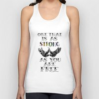 larry stylinson Tank Tops featuring One that's strong as you are free (Larry Stylinson) by Arabella