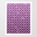 Mermaid Scales Pattern in Purple and Rose Gold by blueskywhimsy
