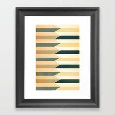 Pencil Clash I Framed Art Print
