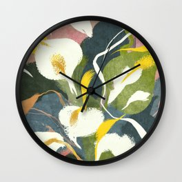 Arum Lily Wall Clock
