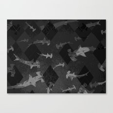 Argyle Frenzy in Midtone Canvas Print