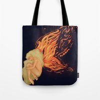 firefly Tote Bags featuring Firefly by Cim Quinlan