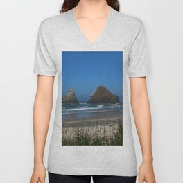 Rocks in the Sea Unisex V-Neck