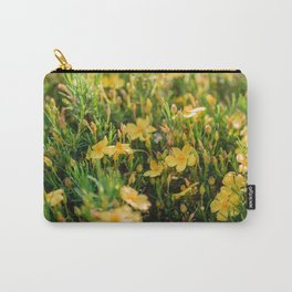 Tiny Yellow Flowers Carry-All Pouch