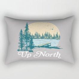 Vintage Retro Up North Lake Rectangular Pillow