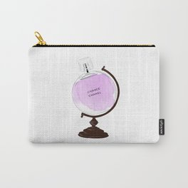Purple Perfume Globus Carry-All Pouch