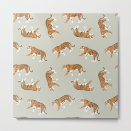 Tiger Trendy Flat Graphic Design Metal Print