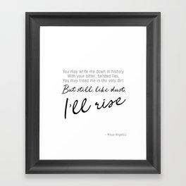 I'll rise #minimalism Framed Art Print