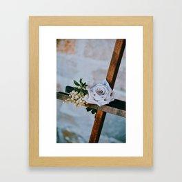 Rose on the Cross (Color) Framed Art Print