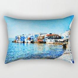 Little Venice at Mykonos Rectangular Pillow