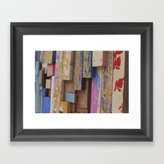 Paint Sticks Framed Art Print